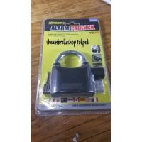 gembok alarm 110db krisbow dengan 3 kunci / padlock