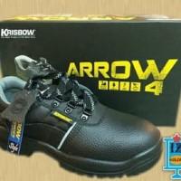 Sepatu pengaman KRISBOW SAFETY SHOES ARROW 4 inci sepatu sefty - Hitam
