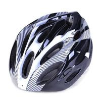 Helm Sepeda Cycling Helmet EPS Foam PVC Shell LED Safety Light - Abu-abu