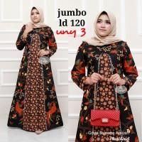 Gamis Batik Jumbo / Gamis Jumbo / Gamis Batik Modern