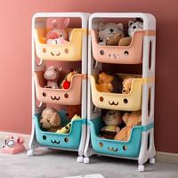 Rak Penyimpanan Mainan Anak Rak Roda 3 Susun Rak Dapur Rak Toilet