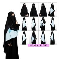 Bundling Niqab Alsyahra Exclusive All In One Sifon Silk Arab 7 Style
