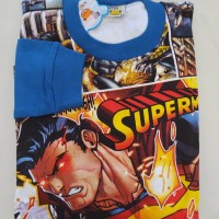Baju Setelan Anak Laki Set Motif Kartun Karakter Pahlawan Bagus SPM3