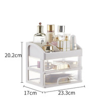 Rak Kosmetik Plastik Serbaguna 2 dan 3 laci / Tempat make up susun - 2 laci