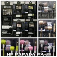 Headset Handsfree PAPADA PA-600 PA600 Stereo Earphones suara mantap