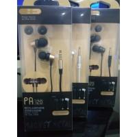 Headset Handsfree PAPADA PA-120 PA120 Metal Earphone Stereo Sound