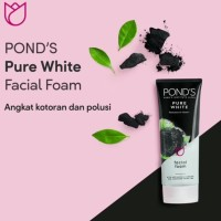 Ponds Pure White Pollution Out + Purity Facial Foam 100gr
