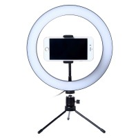 Lacyfans Lampu Halo Ring Light LED Selfie 120 LED 10 Inch Holder RL128