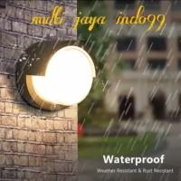 lampu dinding taman outdoor 5watt waterproof /lampu teras outdoor 5W - BULAT