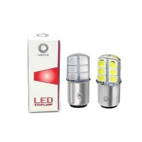O0574 LED Lampu Rem Stoplamp Jelly Gel Bayonet 2 Kaki Putar