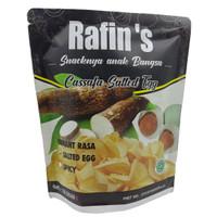 Rafin's Snack Keripik Singkong Varian Telur Asin - 130gr