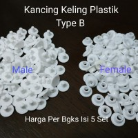 Kancing Keling Plastik 9mm Model 2 Pieces Type B - Per Bgks Isi 5 Set