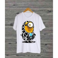 T-shirt Minion Susu / Baju Kaos Distro Pria Wanita Cotton 30s