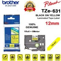 BROTHER TZe-631 12mm PTouch Tape Label TZe631 Black on Yellow