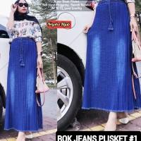 Rok Panjang Wanita Plisket Rempel Jeans 1,2&3