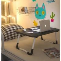 Meja Lipat Anak / Meja Laptop / Meja Belajar Online (Black) MEE DO