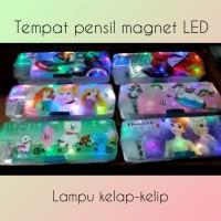 Tempat pensil magnet LED lampu kelap-kelip