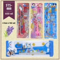 Study set karakter Sts-888 / paket alat tulis