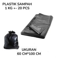 KANTONG PLASTIK SAMPAH 60 X 100 CM - TEBAL 50 MICRON - HITAM TREST BAG