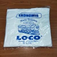 KANTONG PLASTIK HDPE - UKURAN 24 EKONOMIS TIPIS PUTIH - 50 LEMBAR
