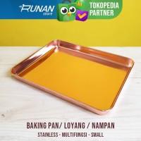Loyang Oven Rose Gold 24x18cm Cookie Baking Pan Loyang Kue Nampan Pink