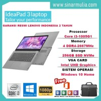 Laptop Lenovo IdeaPad Slim 3i i3-1005G1 256GB SSD 4GB WIN10+OHS MURAH