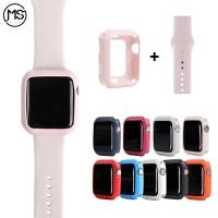 STRAP + Case Silicone Apple Watch iWatch IWO SERIES 3 4 38 42 40 44 mm