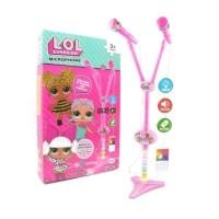 Mainan Anak Perempuan - Microphone Mic Double LOL Pink Musik Karaoke