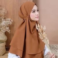 Jilbab Bergo Maryam 2 Layer / Hijab Instan Non Pet / Kerudung Tali New