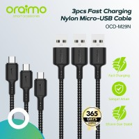 Oraimo Bundle 3pcs Kabel Data Micro USB Fast Charging Cable OCD-M29N