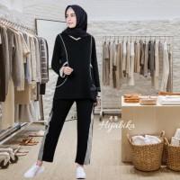 Baju olahraga senam wanita muslim muslimah setelan Hilya