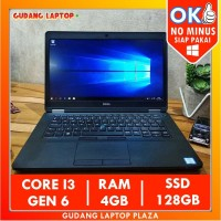 Dell Latitude E5470 Core i3 4GB 128GB Laptop Bekas Murah Berkualitas