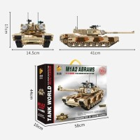 Brick Panlos 632010 Military M1A2 Abrams Main Battle Tank Lego Kid Toy