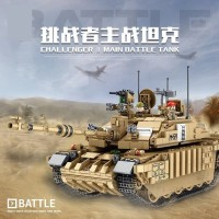 Brick Panlos 632008 Military Main Army Battle Tank Challenger II Lego