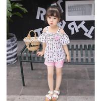 Setelan Dress Anak Mini + Celana Import 0 - 5 Tahun