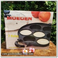 7 holes cetakan kue lumpur non stick with tempered glass-lid Moegen