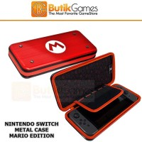 Case Tas Nintendo Switch Metal Alumi Aluminium Metal Mario Edition 015