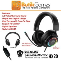 Headset Gaming Rexus HX20 Thundervox Stream