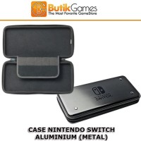 Case Tas Nintendo Switch Metal Alumi Aluminium Black Hitam 13