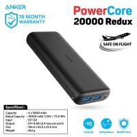 Powerbank Anker Powercore 20000 Redux Black - A1262