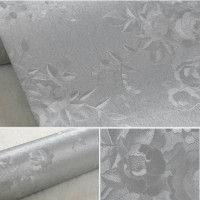 Home Wallpaper Sticker Dinding Silver Rose Flower - 45cm x 10m