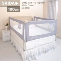 Extra Tall Bedrail Pagar Ranjang Kasur Bayi Bed Guard Rail SKIDA 180cm