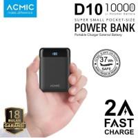 Power Bank ACMIC D10 Mini Fast Charging - Black