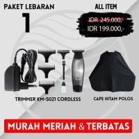 KEMEI TRIMMER 5021 MURAH MERIAH BARBER PANGKAS SALON PAKET 1