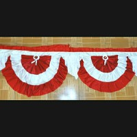 Bendera Merah putih backdrop rumbai circle 9 meter