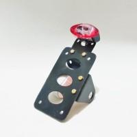 Stoplamp Tengkorak + Plat Nomor Samping