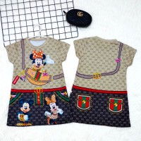 DRESS ANAK / BAJU ANAK IMPORT / DRESS ANAK KOREA / DRESS MINNIE GUCCI - 4