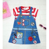 DRESS ANAK / DRESS ANAK IMPORT / DRESS ANAK KOREA JEANS HP