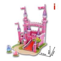 Mainan Puzzle 3D Kekinian Motif Cewek Istana (I)