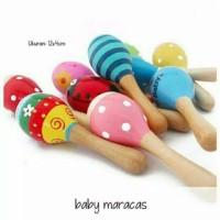 Baby MARACAS Mainan Bayi Kerincingan bayi Rattle/ Marakas Kayu kerinc